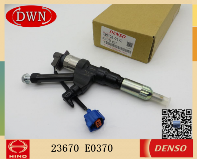 Hino Excavator Engine Fuel Injector 23670-E0370 with DENSO 095000-7172 0950007172 9709500-717#