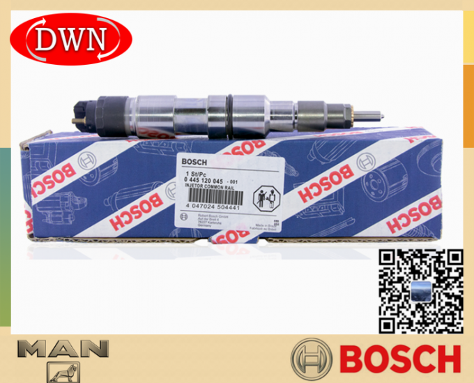 BOSCH Genuine Fuel Injector 0445120045 0 445 120 045 For Man Truck 0986435527