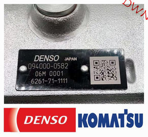 China DENSO Diesel fuel injection pump  094000-0582 =  6261-71-1111  for  komatsu  Excavator Engine factory